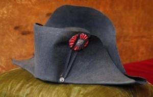 ナポレオンが冠っていた二角帽子