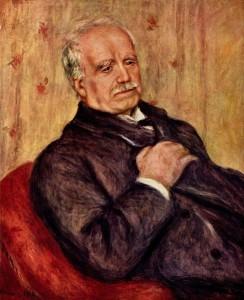 ルノワールによるデュラン=リュエルの肖像画