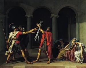 ダヴィッド「ホラチウス兄弟の誓い」